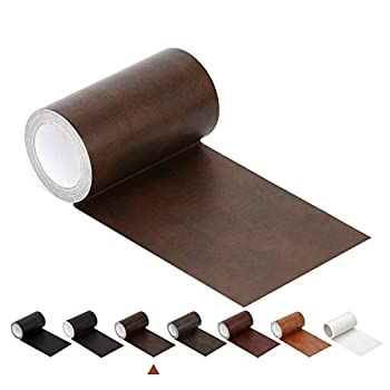 Leather Repair Tape Patch Leather Adhesive for Sofas Car Seats Handbags Jackets,First Aid Patch 2.4  X 15   Brown Leather