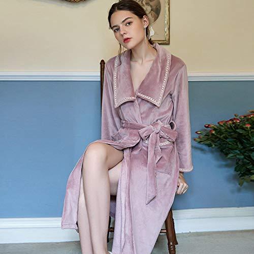 STJDM Bata de Noche,Winter Luxury Pink Pajama Sexy Women...