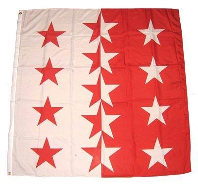 Fahne / Flagge Schweiz - Kanton Wallis NEU 90 x 90 cm