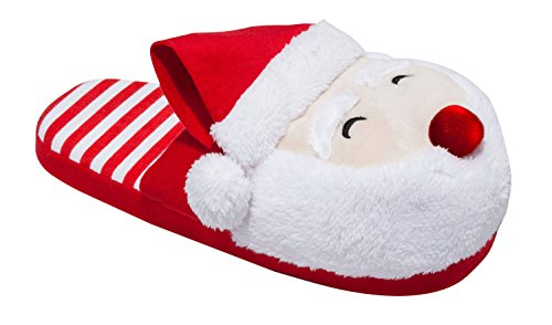 Santa Christmas Men's/Women's Light Up Slippers (5-6 B(M) US, Women's)