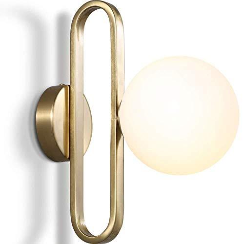HJXSXHZ366 Retro mini wandlamp Eenvoudige metalen glazen bollen nachtlampje badkamer spiegel wandlamp lantaarn levende creatieve persoonlijkheid decoratieve muur schans E14