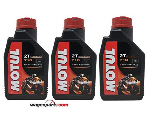 Olio Miscela Motul 710 2T sintetico pack 3 litri (3x1 lt)