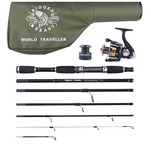 RIGGED & READY TRAVEL FISHING - Eisangeln in Schwarz, Größe 205cm (6ft 9in) 6 section rod