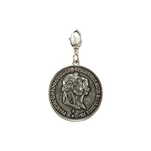 Alpenflüstern Trachten-Anhänger Münze König Max fürs Charivari antik-Silber-Farben AAH164