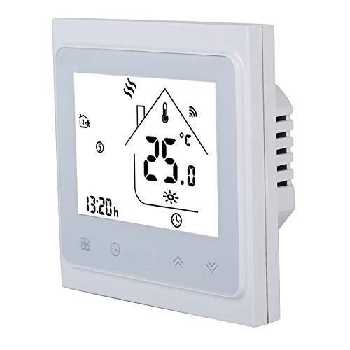 Huisthermostaten, winnaars Slimme programmeerbare thermostaten met LCD-touchscreen Toetsenvergrendeling Dubbele sensor Wifi Thermostaat Temperatuurregelaar voor warmwaterverwarming