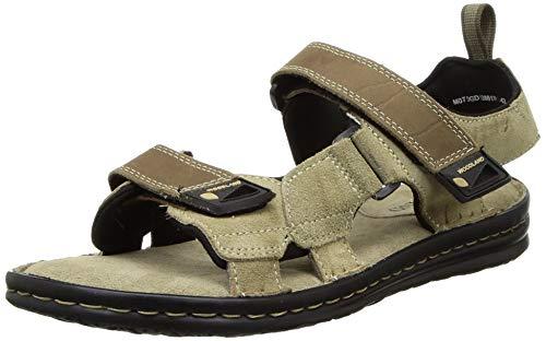 Woodland Men's Leather Sandal-9 UK (OGD 3386119_Khaki)