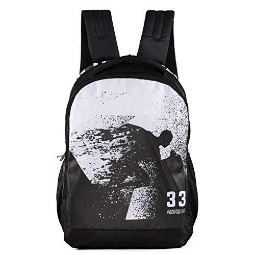 American Tourister Pop NXT 04 Black White Backpack