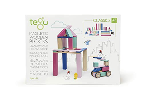 42 Piece Tegu Magnetic Wooden Block Set,...