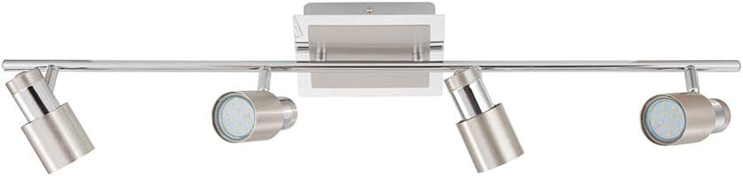 EGLO Limited Special Price 204197A Davida-2 Track Lighting Chrome and Fi Max 40% OFF Matte Nickel