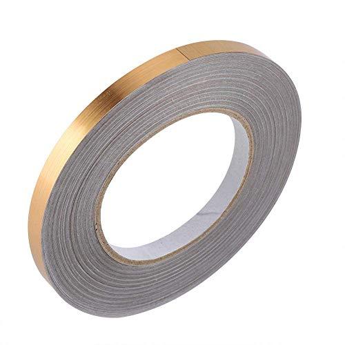 amiciCare Tile Sticker Gap Sealing Tape Silver Color Self-Adhesive Wall & Floor Decor Tape-1cmx5000cm (Gold, Quantity 1)