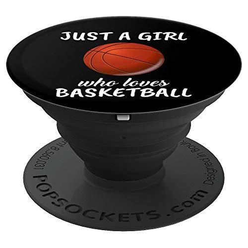 Damen Just A Girl Who Loves Basketball Basketballerin - PopSockets Ausziehbarer Sockel und Griff für Smartphones und Tablets