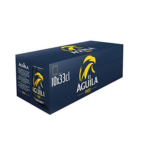 El Aguila Cerveza Especial - Paquete de 10 x 330 ml (Total: 3300 ml)