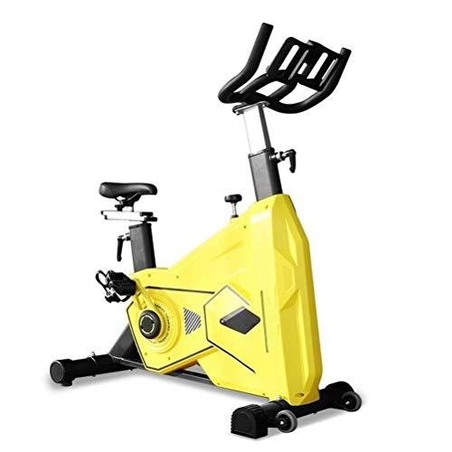 LJJ Bicicleta de Ejercicio Fijo for Interiores y Cubierta de Bicicleta de Ejercicios, Amortiguador cómodo, 39,6 Libras Volante, de pie Ajustable