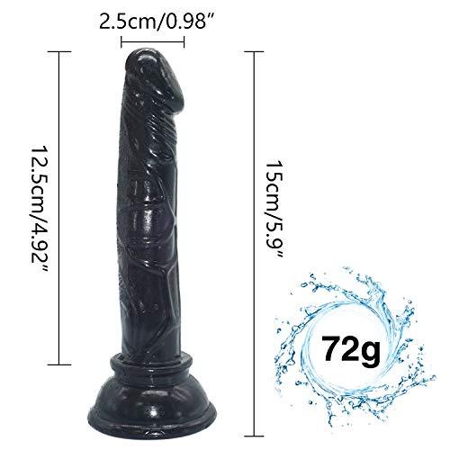 CJWWEI Handfree Frauen Double Pleasure Strap Ǒn Huge Größe - 5.9in wie die gleiche Spüren