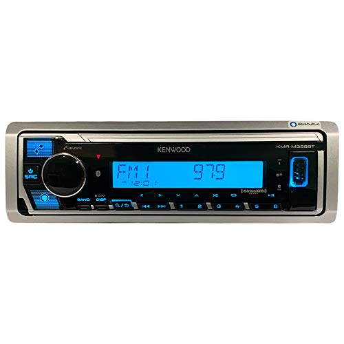 Kenwood KMR-M328BT Marine Digital Media Receiver with Alexa and Built in Bluetooth (Does NOT Play Cd's)