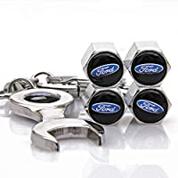 4PCS車のタイヤのバルブキャップ幹オートホイールバルブ防塵はフォード車のスタイリング装飾用ステムキャップ