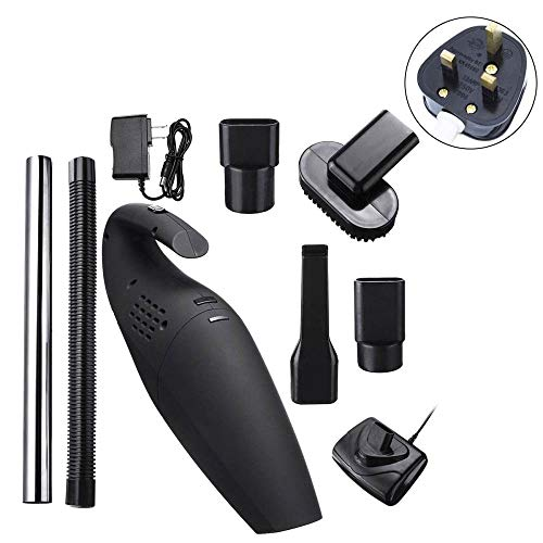 YangJSQ 120W 110-240V Aspiradora de Mano inalámbrica Kit de Herramientas de Limpieza inalámbrica para el hogar del automóvil Super succión húmeda y Seca Uso Dual Limpio