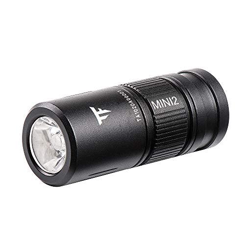 TrustFire MINI2 Rechargeable LED Porte-clés Torche Lampe de poche Léger Pocket Keychain Light Micro USB Charge EDC Super Bright CA18-3X LED Mini Flash Light avec 10180 Rechargeable Battery
