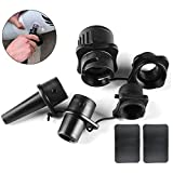 Naluclaz Inflatable Boat SUP Pump Adapter + 4 Universal Air Valve Accessory Kits, Hand Pump and Air...