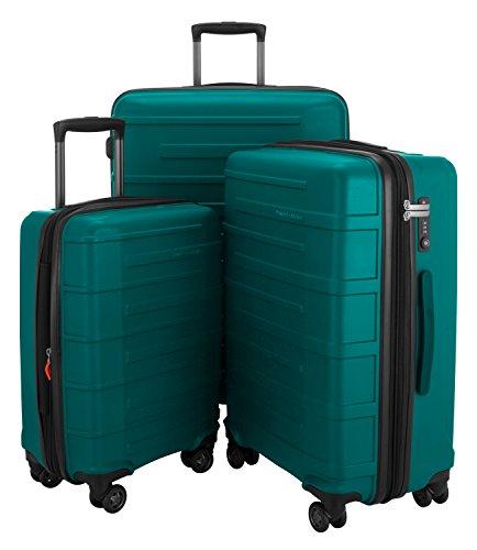 HAUPTSTADTKOFFER Ostkreuz Luggages Set Matt Suitcase Set Hardside Spinner Trolley Expandable