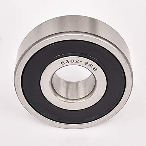2PACK ZH Precision 6302-2RS Bearing 15x42x13mm, Stable Performance and Cost-Effective, Double Seal and Pre-Lubricated, Mower Deck Spindle Bearings