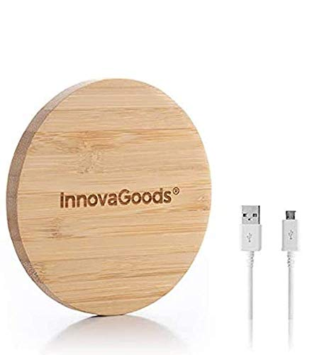InnovaGoods Cargador Inalámbrico de Bambú,