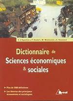 Dictionnaire de sciences économiques & sociales de Marc Montoussé