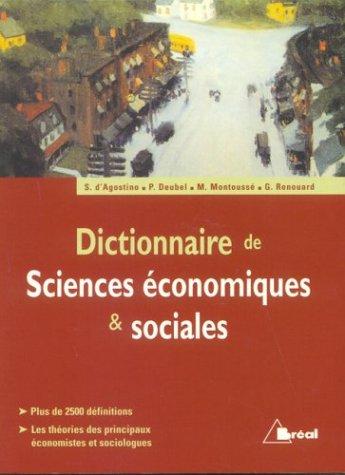 Dictionnaire de sciences économiques & sociales