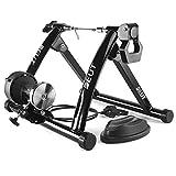 WUBAILI Bike Turbo Trainer Soporte De Ciclismo Magnético, Plataforma De Entrenamiento De Equitación, Marco Fijo De Entrenamiento De Ejercicio para Bicicleta,Negro