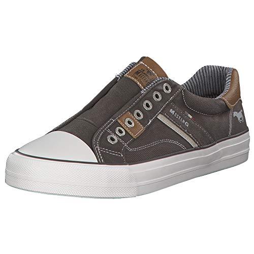 MUSTANG Herren 4127-401-20 Slip On Sneaker, Grau (Dunkelgrau 20), 44 EU