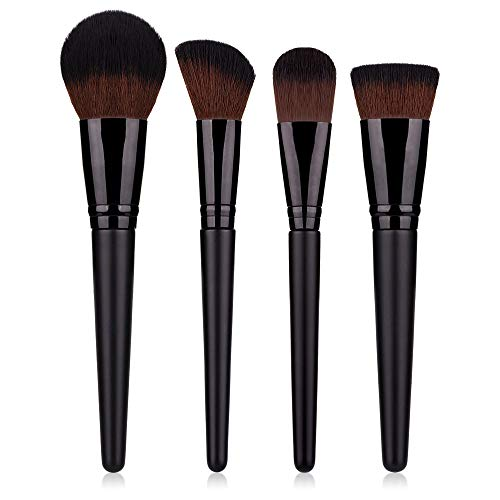 Edary Eye Make-up Pinsel Set 4 Make-up Pinsel Sets Puderpinsel Concealer Roter Pinsel Schwarzer...