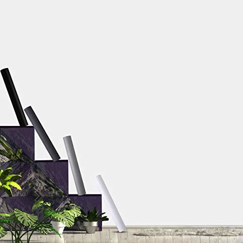 KINLO Selbstklebende Folie Weiss Matt Klebefolie 40 x 300 cm Möbelfolie PVC Tapeten Oberflächenschutz wasserdicht Anti Schimmel für Möbel Arbeitsplatte Wände Tür Schrank