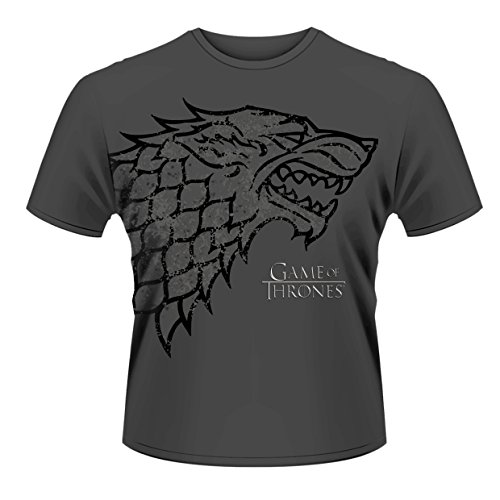 Plastic Head Game of Thrones Direwolf T-Shirt, Gris-Gris, Small Homme