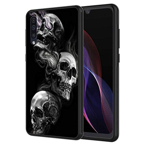Galaxy A10E Case,Vobber Slim Anti-Scratch Architecture TPU Shockproof Protective Case Cover for Samsung Galaxy A10E,Unique Skull