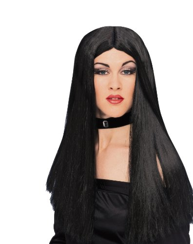 Peluca de bruja malvada, color negro.