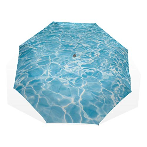 Girls Umbrellas For Rain Blue Summer Cool Swimming Pool Under Water Windproof...