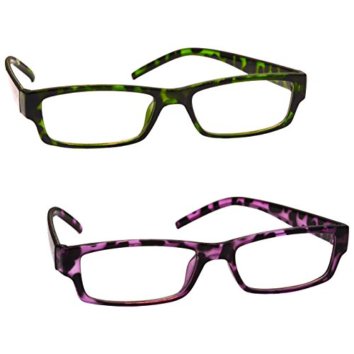 The Reading Glasses Company Gafas De Lectura Verde Y Púrpura De La Concha Lectores Valor Pack 2 Mujeres Señoras Uvr2Pk009_009Pp +1,50 2 Unidades 70 g