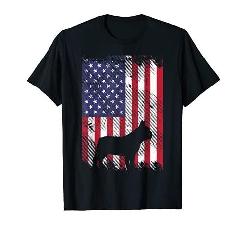 American Flag French Bulldog Frenchie Patriotic 4th Of July T-Shirt