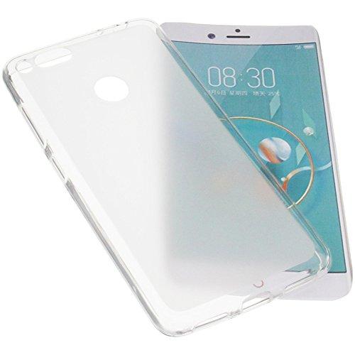 foto-kontor Tasche für ZTE Nubia Z17 Mini Gummi TPU Schutz Handytasche transparent weiß
