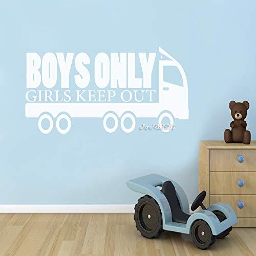 Geiqianjiumai Truck vinyl muur sticker jongen alleen meisje maken muur tattoo muurschildering decoratieve applique jongen behang