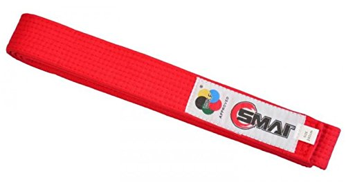 S.B.J - Sportland SMAI WKF Wettkampfgürtel rot, 260cm