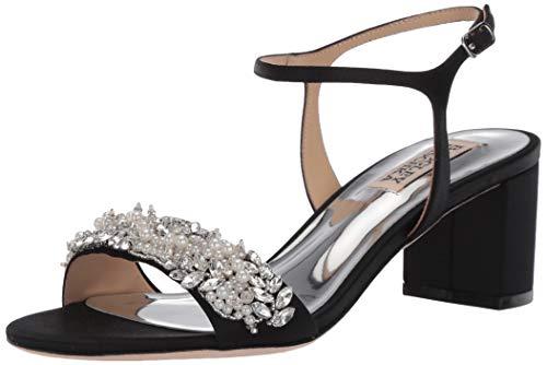 Badgley Mischka Women's Clair Heeled Sandal, Black, 9 M US