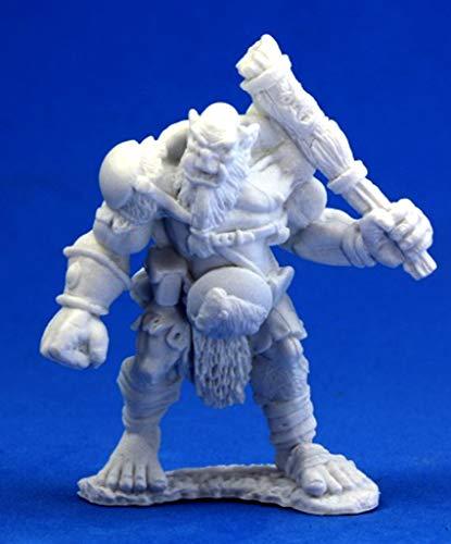 1 x Ogre Chieftain - Reaper Bones Miniatura para Juego de rol Guerra - 77005