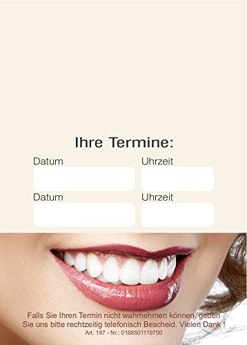 20 Terminblöcke mit je 50 Terminzettel, Terminblock tb197 Zähne, Zahnarzt