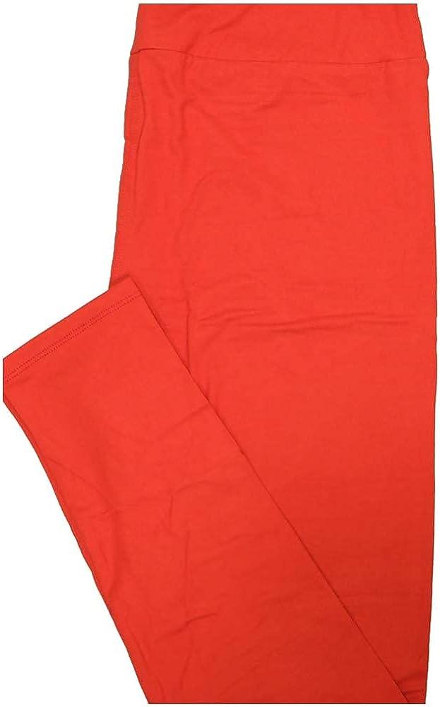 Lularoe Tall Curvy TC Solid Reddish Orange Womens Leggings fits Adult Sizes 12-18