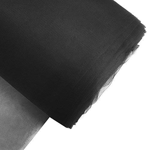 """Craft and Party, 54"""" by 40 yards (120 ft) fabric tulle bolt for wedding and decoration (Black)"""