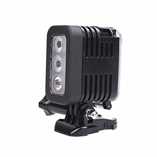 Hangang Wasserdichtes LED-Unterwasser-Tauchlicht für GoPro Hero Action-Kameras, wasserdichte Sidekick-Seite, LED-Blitzlicht, Flutlicht, Kamera-Zubehör (vertikal)