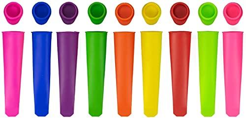 Bekith - 10 moldes de silicona para helados, fácil de limpiar