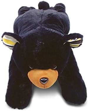 DolliBu Plush Fees free!! Black Bear Stuffed Animal Pillow Size Soft - Ranking TOP17 Super