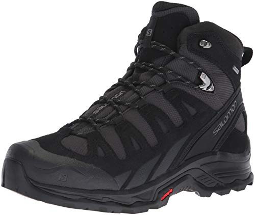 Salomon Quest Prime GTX, Zapatillas de Senderismo Hombre, Gris (Phantom/Black/Quiet Shade), 43 1/3 EU